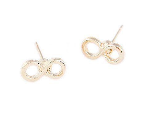Infinity Unendlich Ohrring Ohrstecker für Damen in Gold-Optik von DesiDo - http://schmuckhaus.online/desido/infinity-unendlich-ohrring-ohrstecker-fuer-in