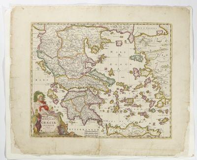 Karta över Grekland med dess arkipelag.