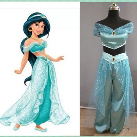 Custom Made Princess Jasmine Dress Party Wedding Women Cosplay Halloween Princess Jasmine Costume Adult-in Clothing from Novelty & Special Use on Aliexpress.com | Alibaba Group