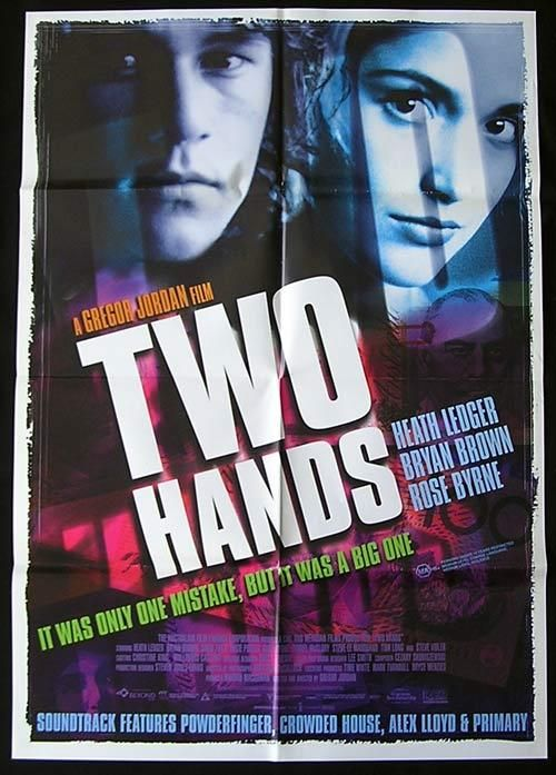 Heath Ledger movie posters | TWO HANDS Movie Poster 1999 Heath Ledger Australian one sheet - Two ...