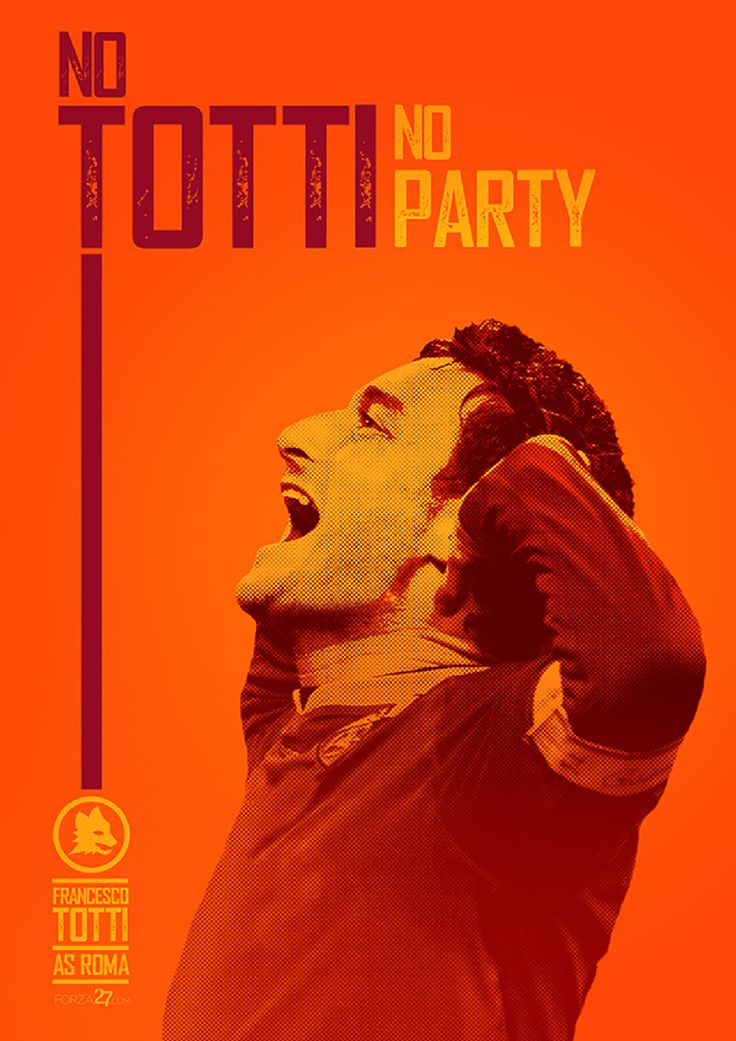 In the second installment of our new Roma Art series, which turns the spotlight on the creativity of Giallorossi fans all over the world, we present three classic posters from three different designers featuring everyone's favourite tagline: 'No Totti, No Party'