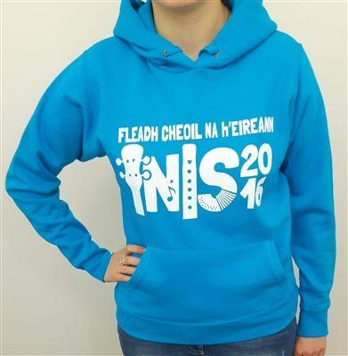 Fleadh Inis 2016 Merchandise - celebrate Fleadh Cheoil na hÉIireann coming to Ennis in style! Azure Blue Hoodie €25 WowWee.ie