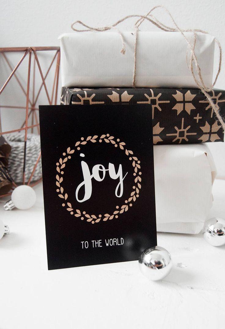 joy to the world joulukortti christmas card