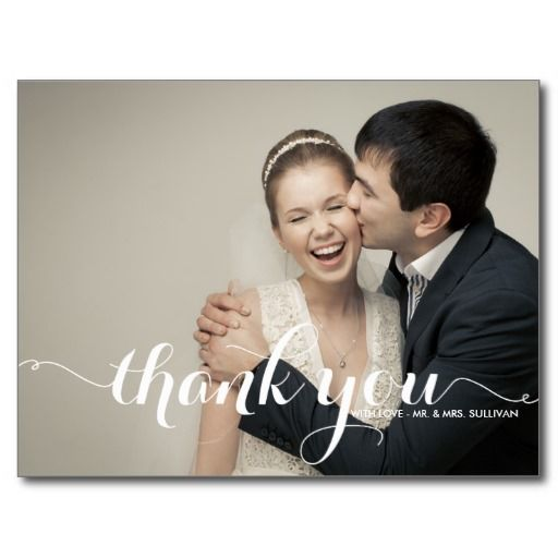 CALLIGRAPHY SCRIPT WEDDING THANK YOU POSTCARD We have the best promotion for you and if you are interested in the related item or need more information reviews from the x customer who are own of them before please follow the link to see fully reviewsDeals          CALLIGRAPHY SCRIPT ...