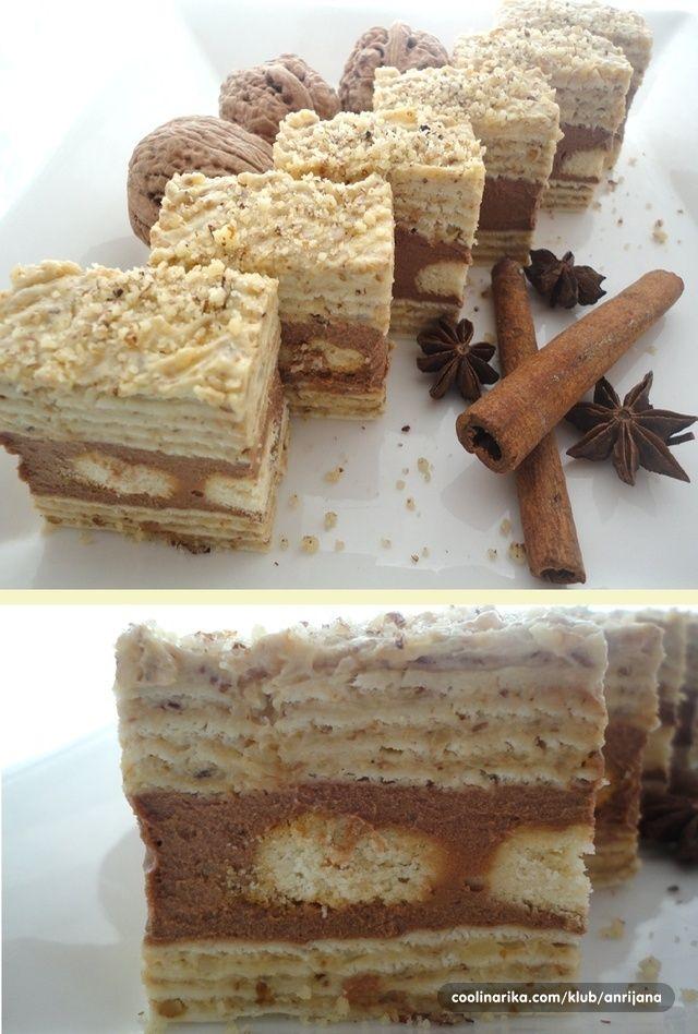 Štangle sa orasima i čokoladom — Coolinarika