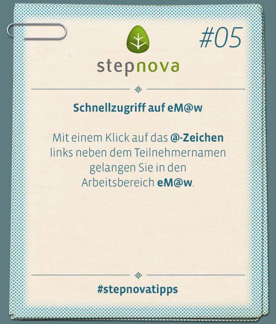 Wie Sie eM@w besser finden? Mit einem Klick auf das @-Zeichen in stepnova. #BeruflicheBildung #Maßnahme #stepnova #eMaw