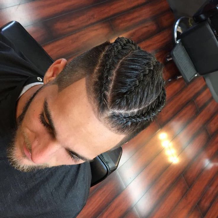 Man Bun with Braids /Fade