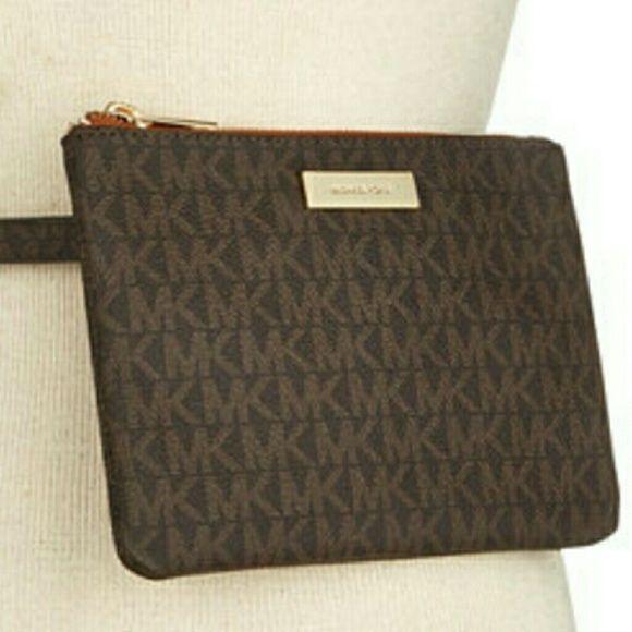 Michael Kors Belt Bag Signature top zip monogram  belt bag is a premium option f…