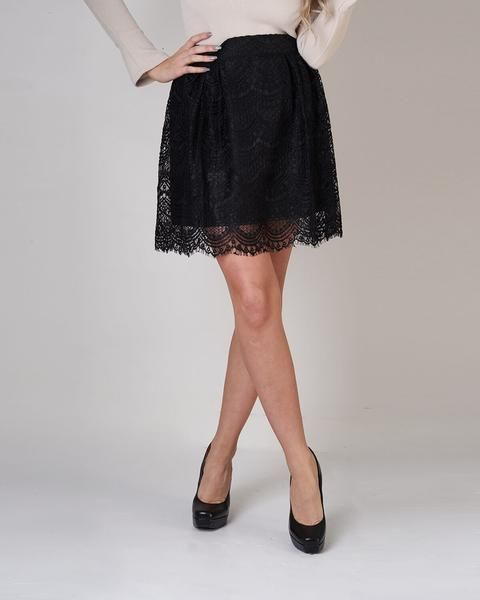 Molly Bracken has created the Young Lady which is a black woven skirt. This skirt can be taken from professional to evening with a pair of heels and is the perfect addition to any dressed up look.