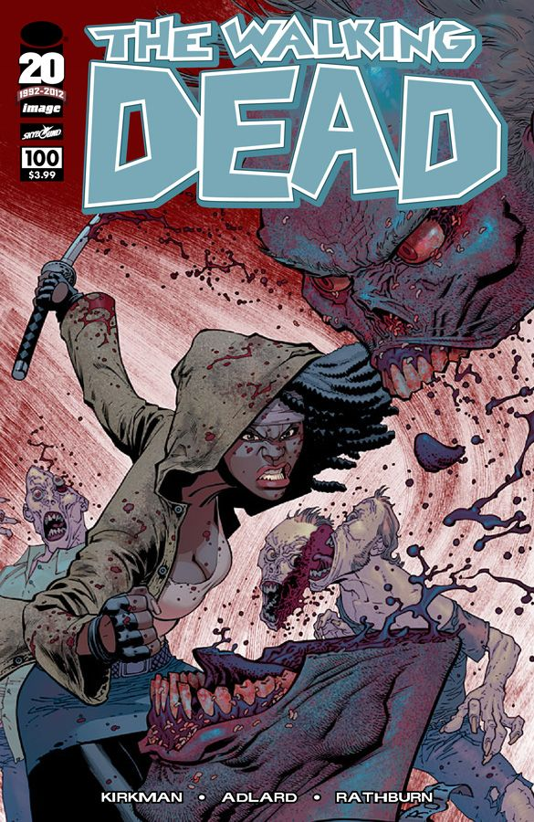 #TheWalkingDead issue number 100 Variant Cover from Ryan Ottley (Exclusive) - The alternative cover is one of seven that will mark the comic's milestone issue July 2012.