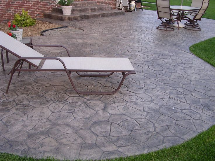 Find This Pin And More On Pool Patio. Curved Edges, Stamped Concrete ...