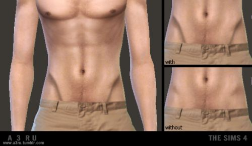 Defined Pelvic Muscles (V-lines) overlay for YAM. By far the sexiest part of a man (in my opinion). Found under either the Tattoo or Gloves category for both genders. Can be worn over any skintone. Custom CAS image. Heavy and soft versions. All one...