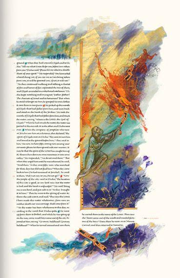 Elijah And The Fiery Chariot Print - LIT : The Saint John's Bible