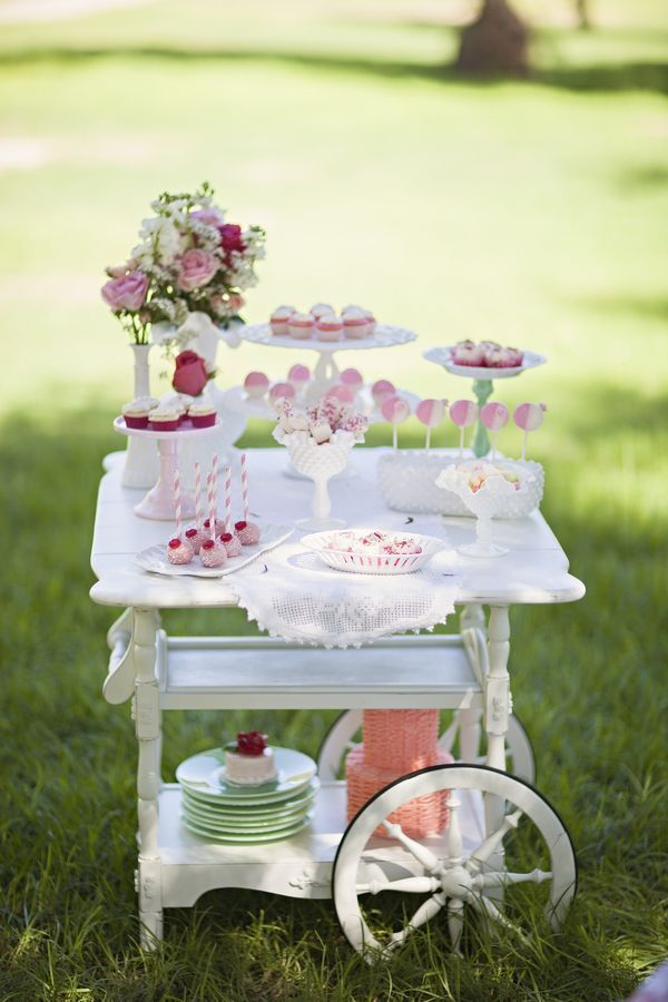 This gorgeous shabby chic tea party was quite an exclusive birthday party!  It had a guest list of two: the birthday girl and her mom, Aracely.