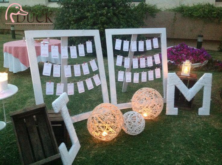Sitting boda blanco y rosa