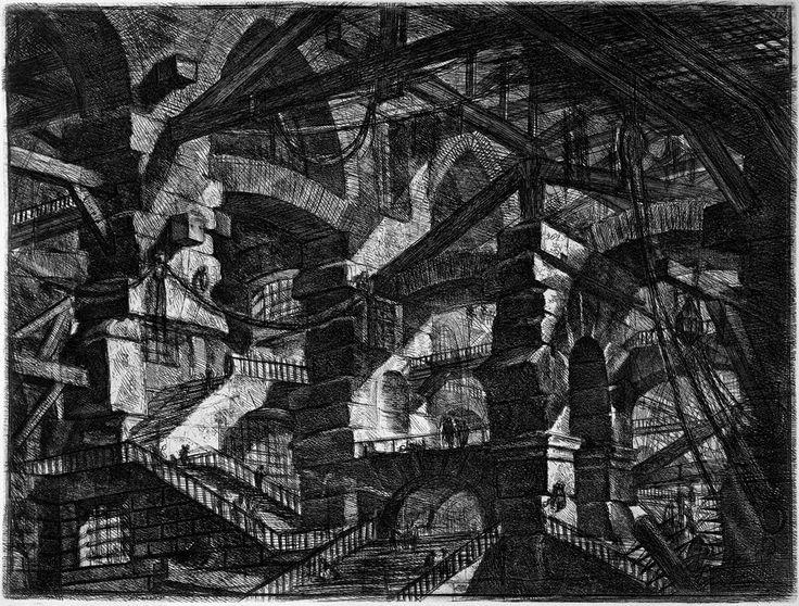 Piranesi - love his work - drawing - blackandwhite -drawings - architecture