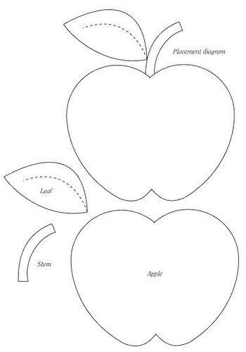 moldes eva fruta maça