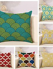 Set Of 6 Vintage Geometry Pattern Pillow Cover Personality Square Pillow Case Sofa Cushion Cover – USD $ 30.99