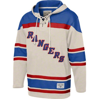 b87d872d1 ... New York Rangers Stone Old Time Hockey Vintage Lace Up Pullover Hooded  Sweatshirt ...