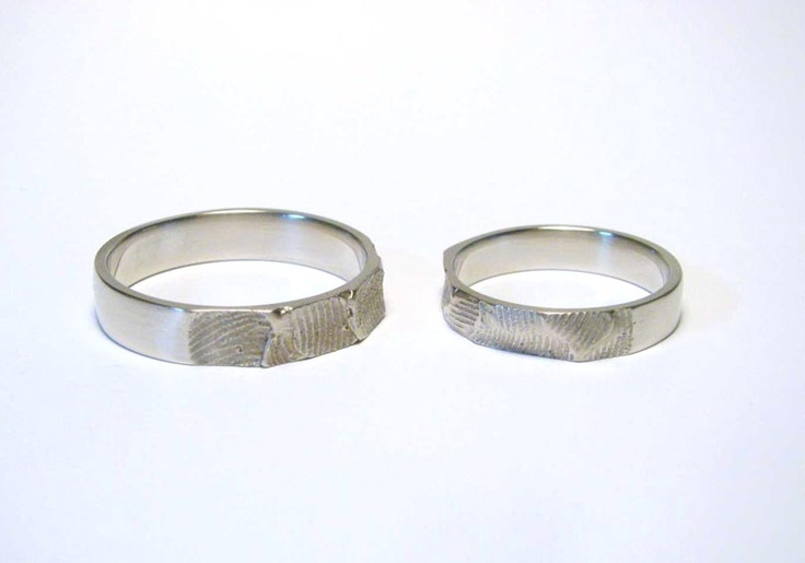 wedding rings with fingerprints  by Lucie Houdkova
