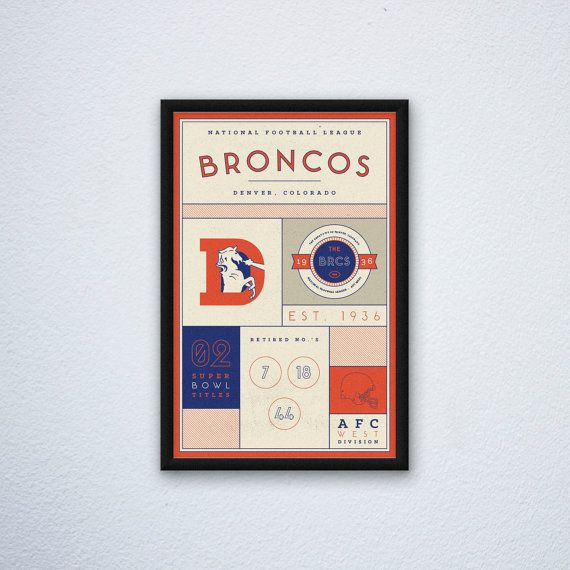 Denver Broncos Stats Print by DesignsByEJB on Etsy