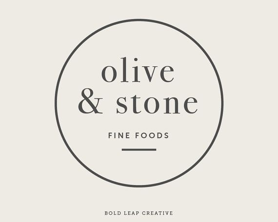 "Premade Logo Design - Boutique Logo, Circular, Round, Simple, Modern, Hipster, Small Business, Branding - ""Olive & Stone"" - By Bold Leap Creative"