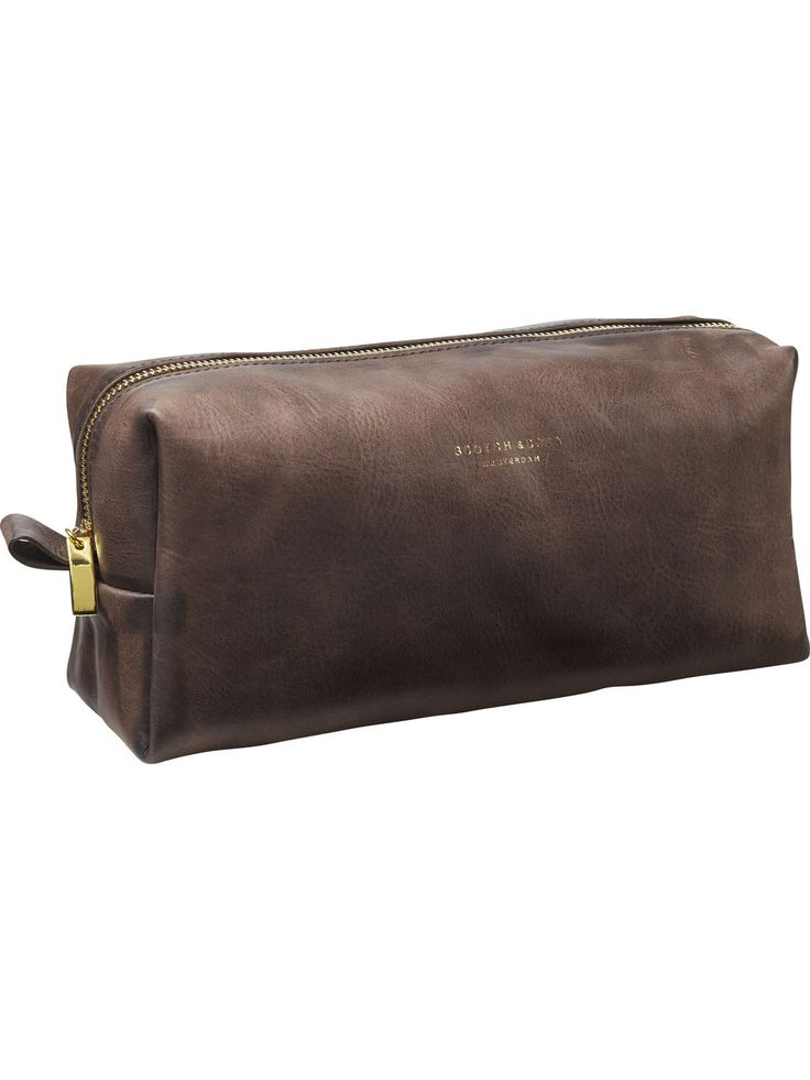 Leather Toiletry Bag | Accessoiries | Men's Clothing at Scotch & Soda