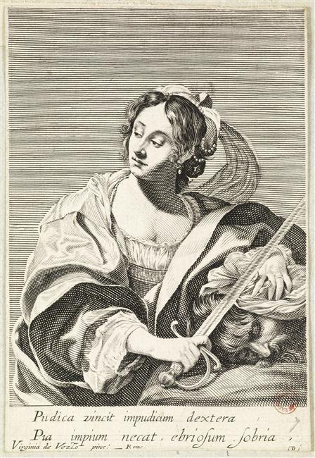 Judith et Holopherne, estampes de Claude Mellan d'après Virginia da Vezzo, XVII, Abbeville, Musée Boucher de Perthes