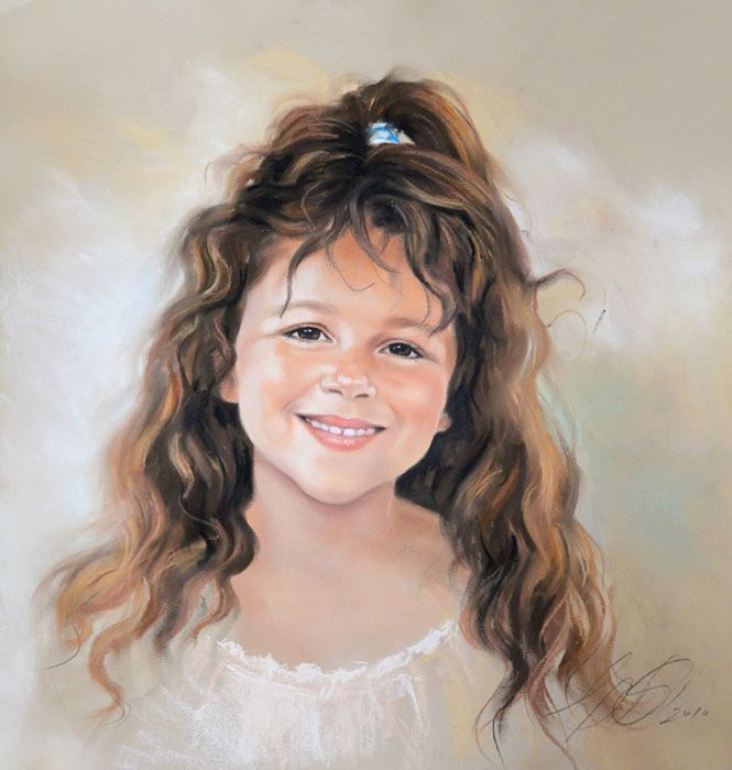 17 best images about graciela bonbalova pastels on - Retratos de ninos al oleo ...