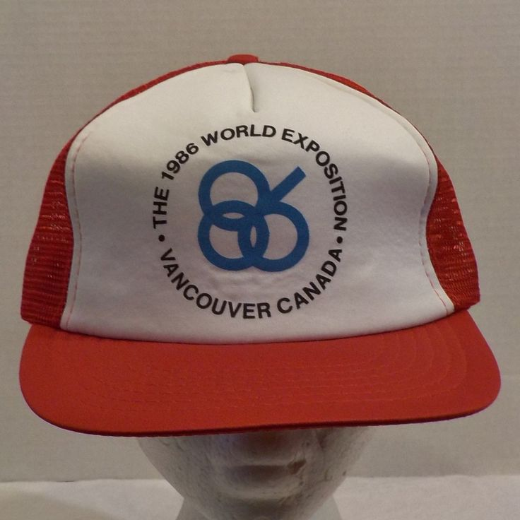 Vintage Hat Cap 1986 World Exposition Vancouver Snapback by LouisandRileys on Etsy