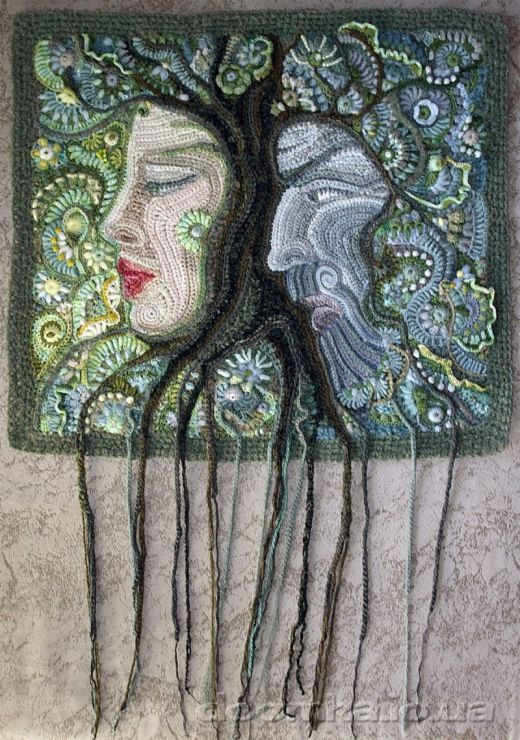 Freeform crochet picture. Found at -  http://jasnaja.gallery.ru/watch?ph=QJ1-eWq6t