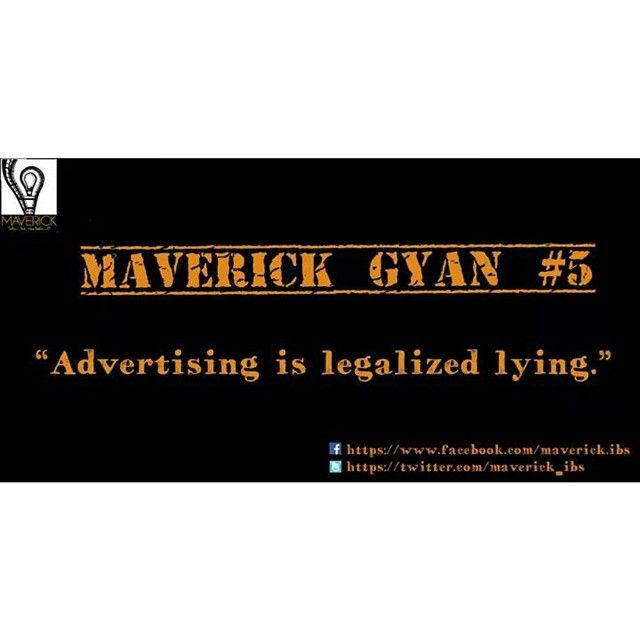 #maverickgyan #advertising #promotion or #legalizedlying