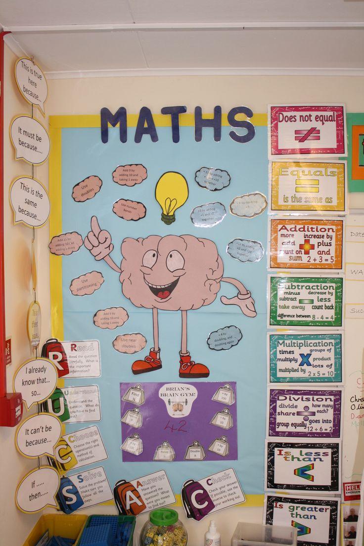 7 best Maths display images on Pinterest | Classroom ideas, Display ...