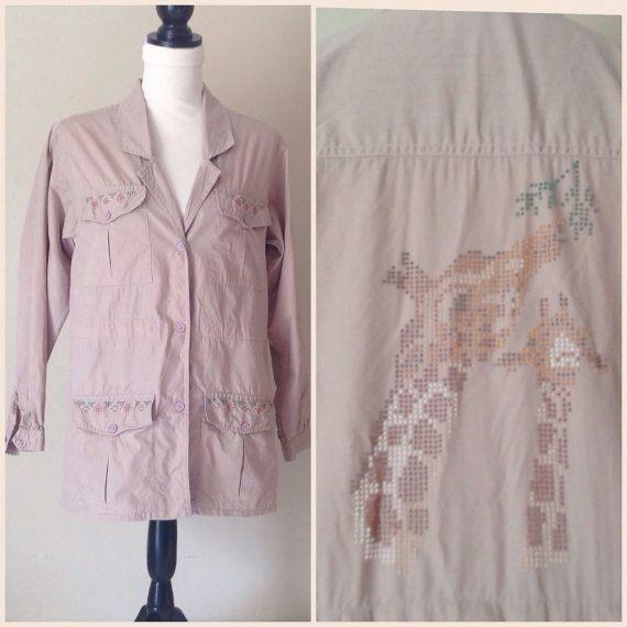 Adini Safari Shirt / Vintage / Khaki Shirt by VerilyVintageClothes