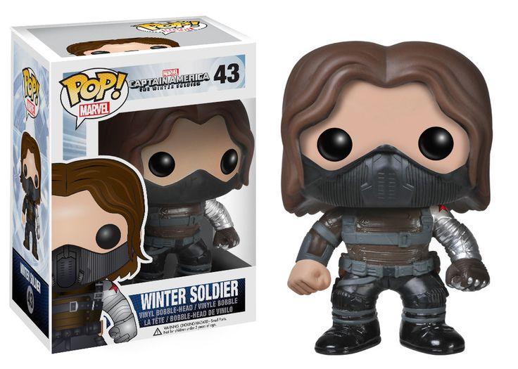 Pop! Marvel: Capt. America Movie 2 - Winter Soldier UNMASKED   Funko