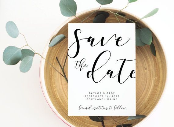 Modern Save the Date Calligraphy Save the Date Save the Date
