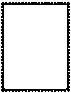 Black Scalloped Border