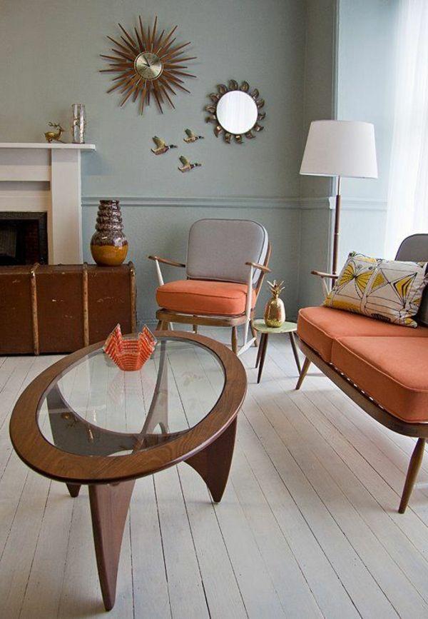 Wohnzimmer Gestaltungmglichkeiten Tisch Design Wanddeko Mid Century DesignElegant DesignsRooms