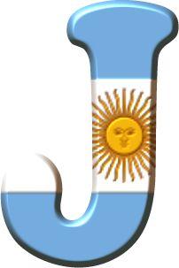 Alfabeto con la Bandera de Argentina. | Oh my Alfabetos!