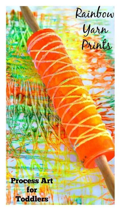 Rainbow yarn prints