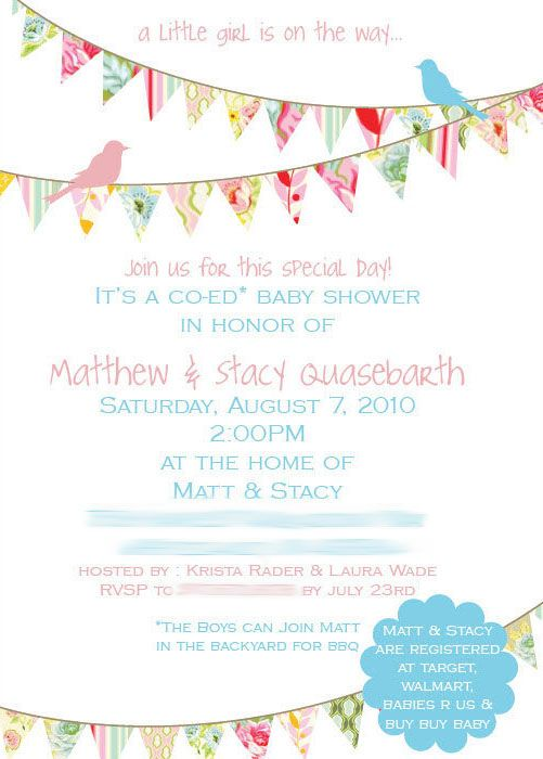 16 best Baby Shower Invitation For Girls images on Pinterest - baby shower invitation backgrounds free