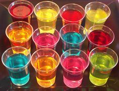 """Disco party food - again use the """"disco colours"""" for jelly!"""