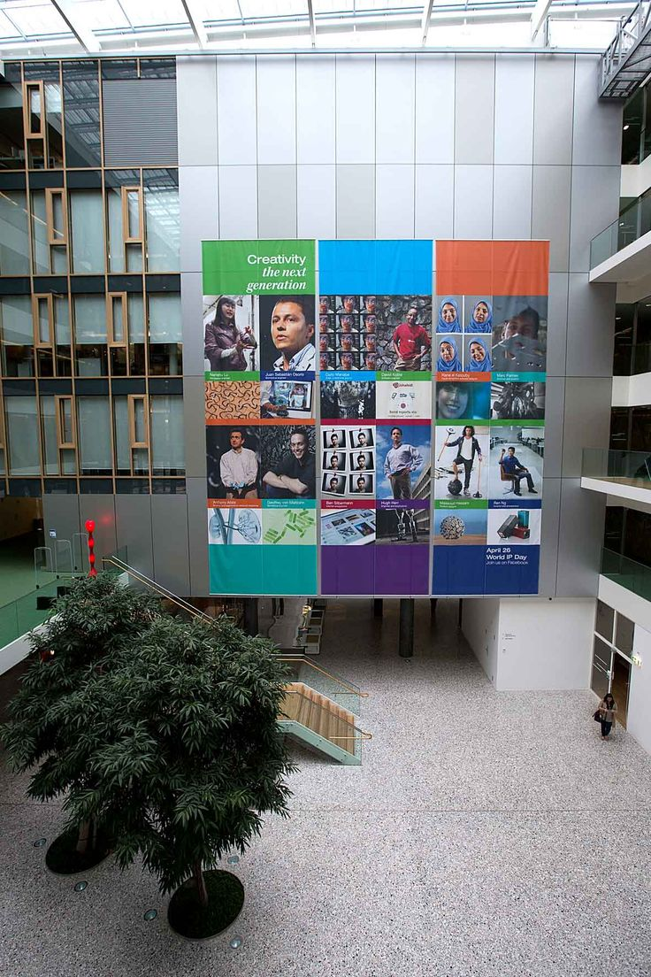 #affichage grand format #intérieur pour l'organisation international OMPI a Genève.  #impression #bâche #décorationintérieure #affichexxl - wide format print #print #banner  remarq.ch