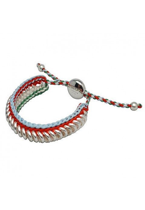 Cheap Links of London Bracelets Outlet, Links of London Friendship Collection In Blue And Red Woven Swee Outlet Online Sale
