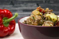 Die Low Carb Brokkoli-Hackfleisch-Pfanne eignet sich besonders für den spontanen Hackfleisch-Hunger, da sie im Nu zubereitet ist.