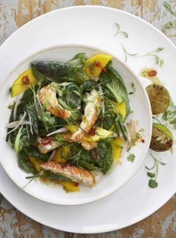 Crayfish Salad with Mango & Asian Greens