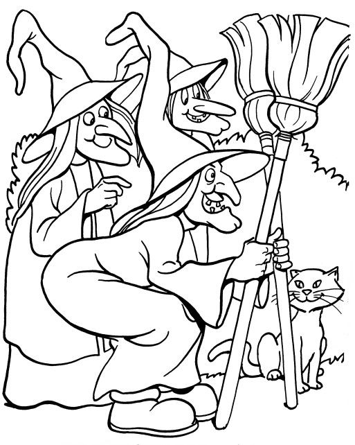 Coloring Pages For Halloween Witches : 365 best color halloween children teens & images on pinterest