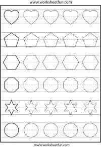 Shape tracing – 1 Worksheet