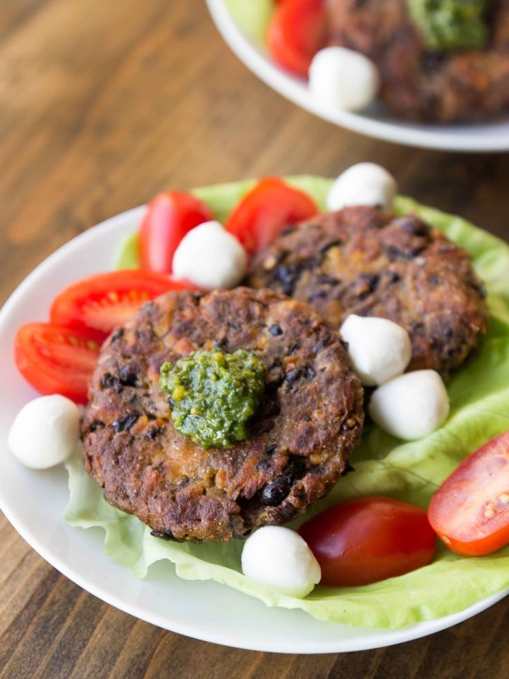 Black Bean and Sweet Potato Fritters with Pistachio Pesto | Healthier ...