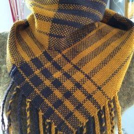 Urban Scotland Handwoven Cowl handwoven by Weft Blown